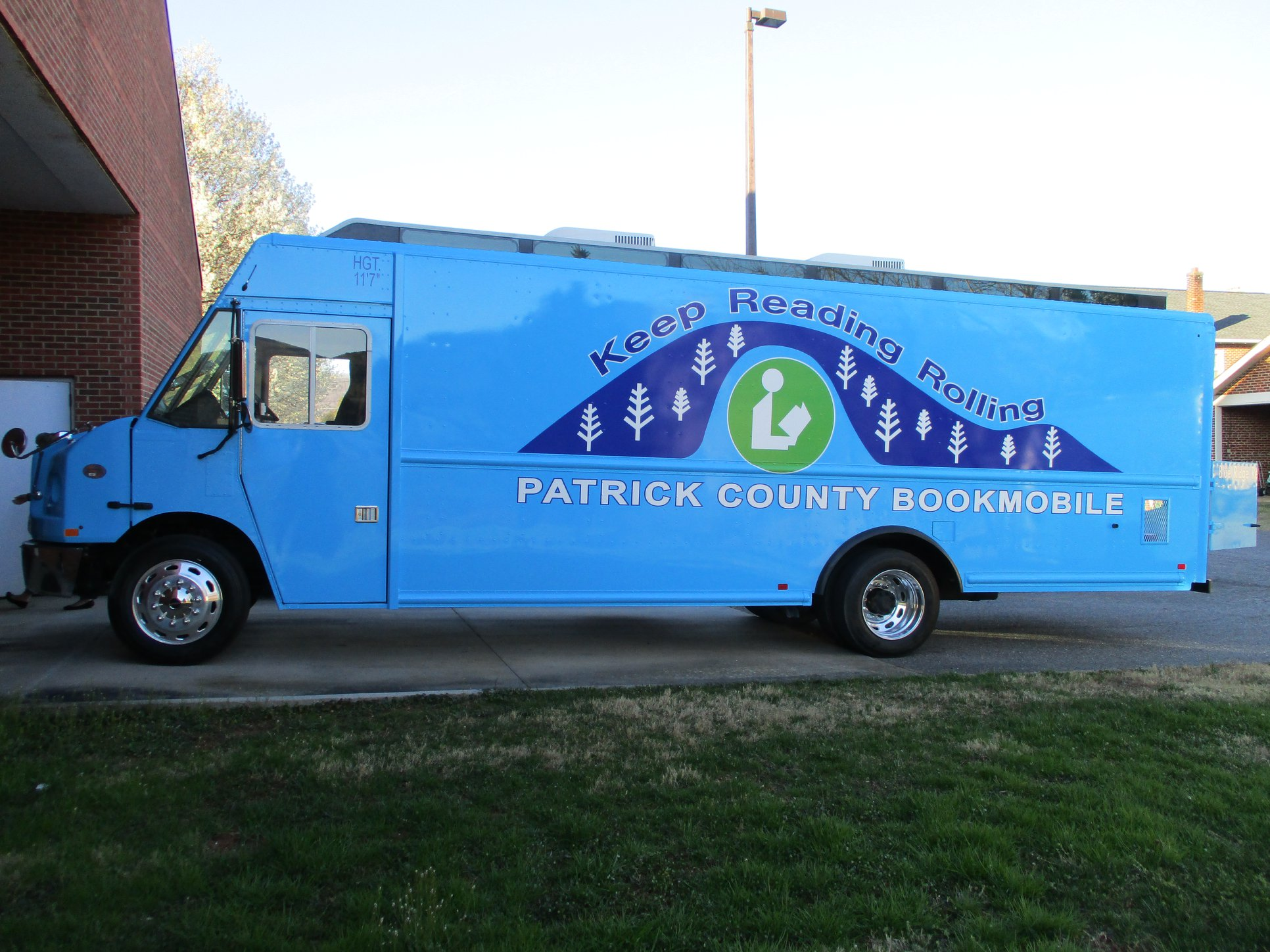 Left side view of the new bookmobile